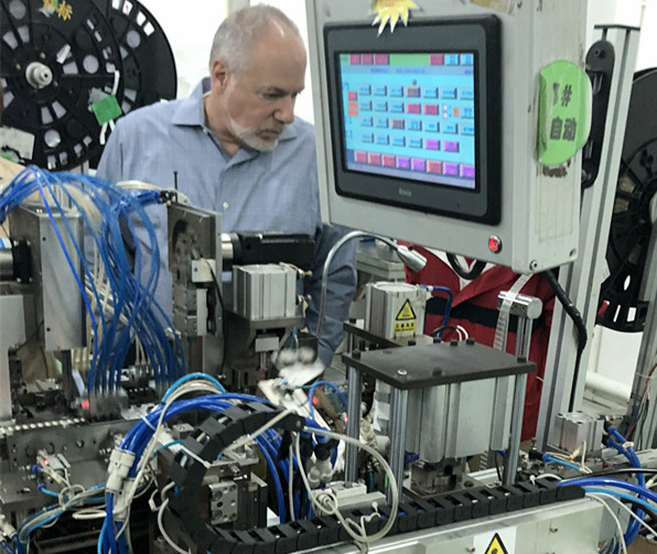 American Lexmark representative visit visit CHA Company factory